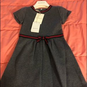 Gucci Children's cotton dress with Web bow. New